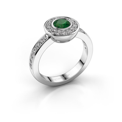 Ring Ivy 585 Weißgold Smaragd 5 mm