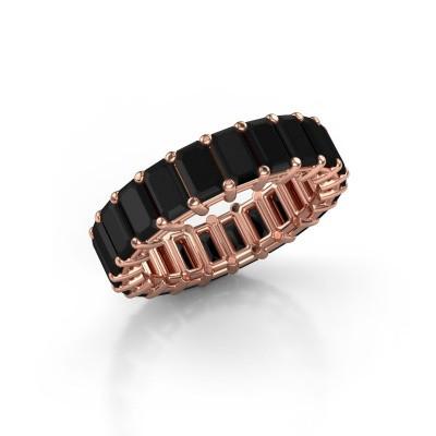 Ring Heddy EME 5x3 375 Roségold Schwarz Diamant 7.654 crt