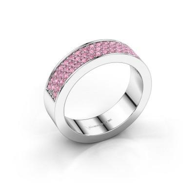 Ring Lindsey 4 950 platina roze saffier 1.3 mm