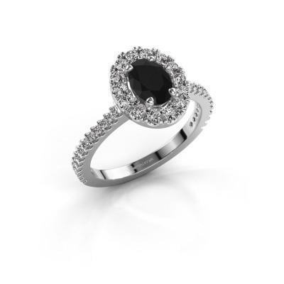 Foto van Verlovingsring Jorinda 2 585 witgoud zwarte diamant 1.525 crt
