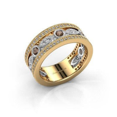 Ring Jessica 585 goud rookkwarts 2.5 mm