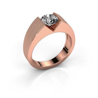 Verlovingsring Lizzy 1 585 rosé goud diamant 1.00 crt