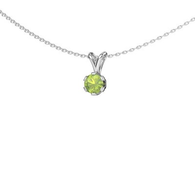 Picture of Necklace Julia 585 white gold peridot 5 mm