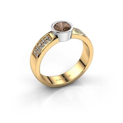 Verlovingsring Ise 3 585 goud bruine diamant 0.55 crt