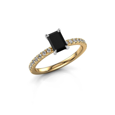 Picture of Engagement ring Crystal EME 2 585 gold black diamond 1.08 crt