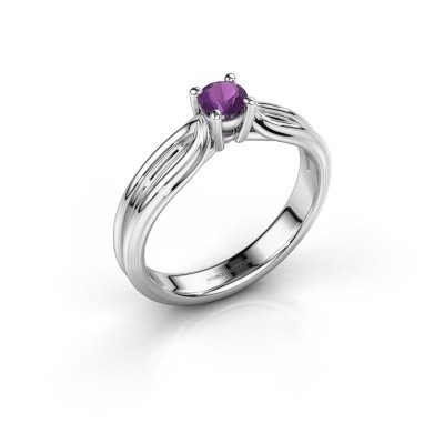Engagement ring Antonia 1 950 platinum amethyst 4 mm