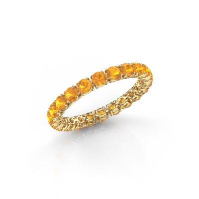 Foto van Ring Vivienne 2.7 375 goud citrien 2.7 mm