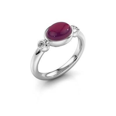 Ring Liane 925 zilver rhodoliet 8x6 mm