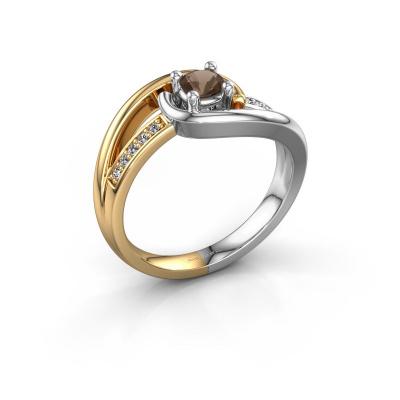 Ring Aylin 585 goud rookkwarts 4 mm