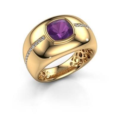 Foto van Ring Sydney 375 goud amethist 7.5 mm