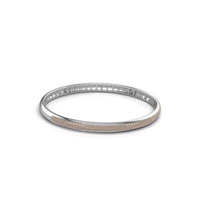 Foto van Armband Emely 5mm 585 witgoud bruine diamant 1.178 crt