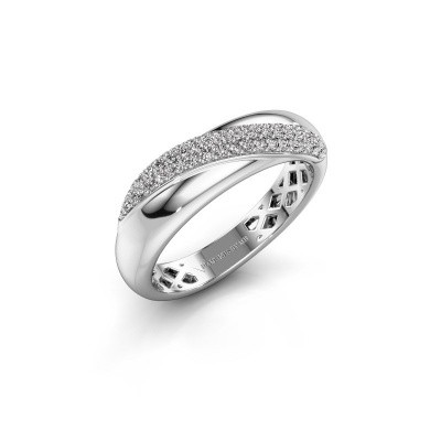 Foto van Ring Rosie 925 zilver diamant 0.259 crt