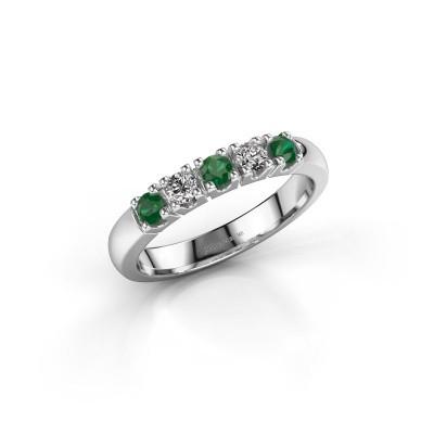 Foto van Ring Rianne 5 585 witgoud smaragd 2.7 mm