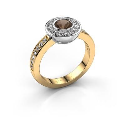 Ring Ivy 585 gold smokey quartz 5 mm