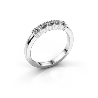 Verlovingsring Yasmin 5 585 witgoud lab-grown diamant 0.50 crt