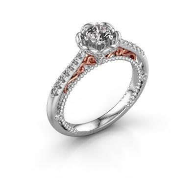 Foto van Aanzoeksring Abbey 585 witgoud diamant 0.582 crt