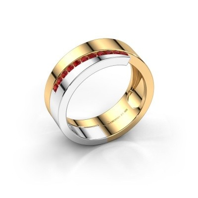 Ring Loma 585 goud robijn 1.5 mm