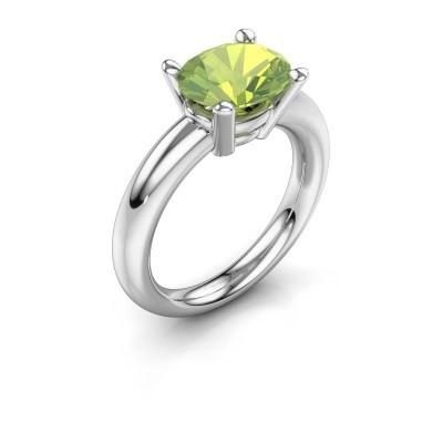 Ring Janiece 925 zilver peridoot 10x8 mm