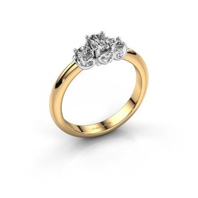Engagement ring Frederique 585 gold diamond 0.39 crt
