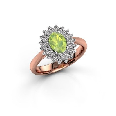 Engagement ring Alina 1 585 rose gold peridot 7x5 mm