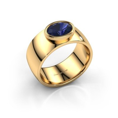 Ring Wilma 1 585 goud saffier 8x6 mm