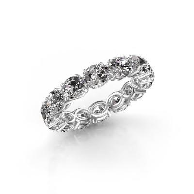 Foto van Ring Vivienne OVL 5x4 585 witgoud diamant 4.900 crt