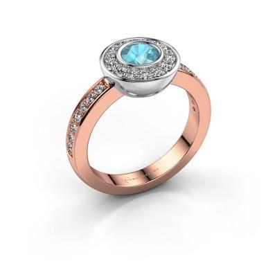 Ring Ivy 585 rose gold blue topaz 5 mm
