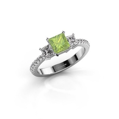 Engagement ring Dorla 950 platinum peridot 5 mm