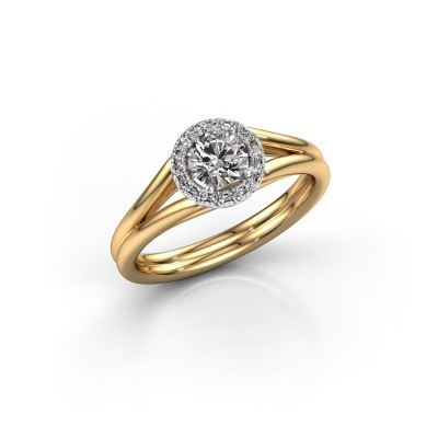 Engagement ring Verla rnd 1 585 gold diamond 0.505 crt