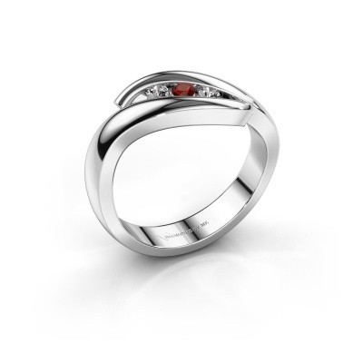Foto van Ring Ilene 585 witgoud granaat 2.4 mm
