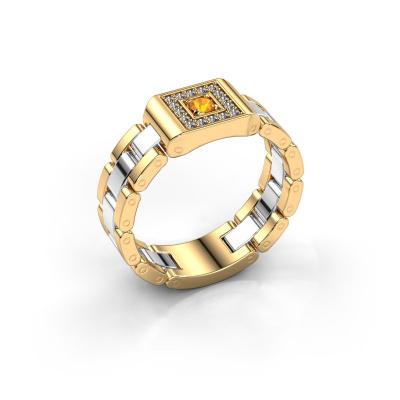 Herrenring Giel 585 Gold Citrin 2.7 mm