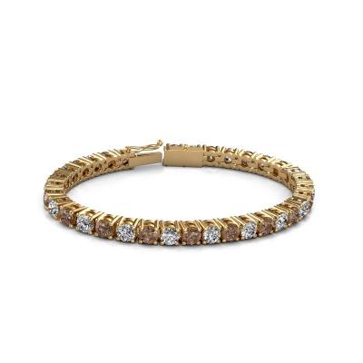 Picture of Tennis bracelet Karin 5 mm 375 gold brown diamond 17.00 crt