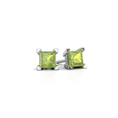 Picture of Stud earrings Ariane 375 white gold peridot 5 mm