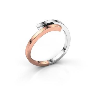 Ring Juliette 585 rose gold black diamond 0.05 crt