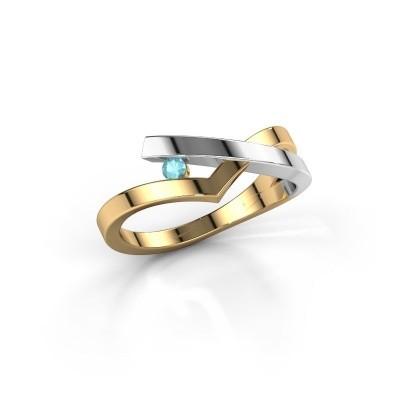 Ring Pamella 585 gold blue topaz 2.2 mm