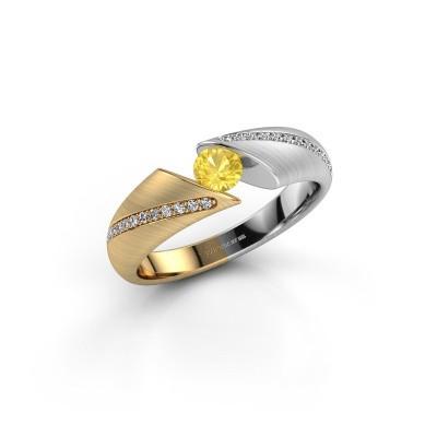 Foto van Ring Hojalien 2 585 goud gele saffier 4 mm