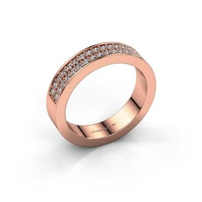 Aanschuifring Catharina 4 375 rosé goud lab-grown diamant 0.36 crt