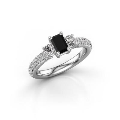 Foto van Verlovingsring Marielle EME 585 witgoud zwarte diamant 1.51 crt
