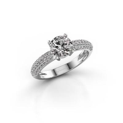 Foto van Verlovingsring Marjan 950 platina diamant 1.369 crt