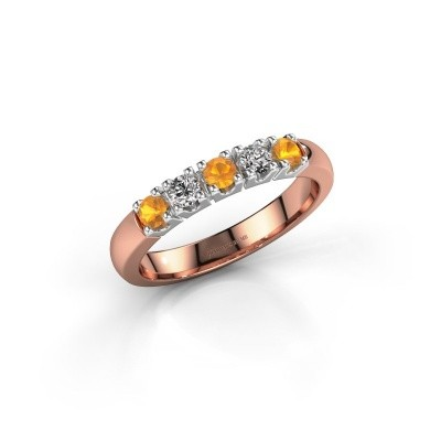 Engagement ring Rianne 5 585 rose gold citrin 2.7 mm