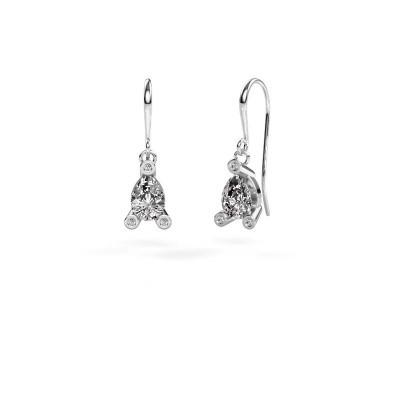 Drop earrings Bunny 1 375 white gold diamond 1.345 crt