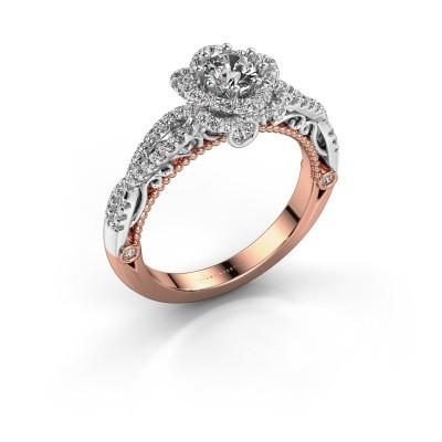 Engagement ring Lysanne 585 rose gold diamond 0.75 crt