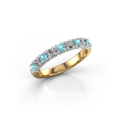 Engagement ring Rianne 9 585 gold blue topaz 2.4 mm