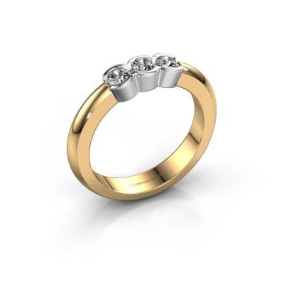 Foto van Verlovingsring Lotte 3 585 goud zirkonia 3 mm
