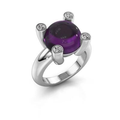 Ring Janice RND 925 zilver amethist 12 mm
