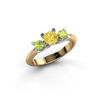 Ring Mirthe 585 Gold Gelb Saphir 5 mm