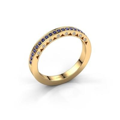 Ring Yasmine 375 Gold Saphir 1.2 mm