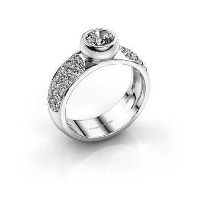 Foto van Belofte ring Benthe 585 witgoud diamant 1.14 crt