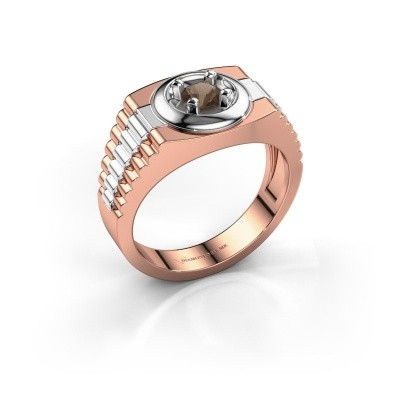 Picture of Men's ring Edward 585 rose gold smokey quartz 4.7 mm