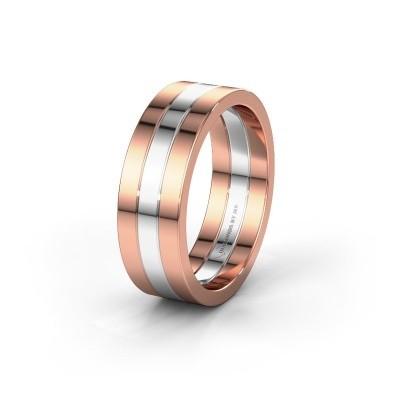 Trouwring WH2120M 585 rosé goud ±7x1.7 mm